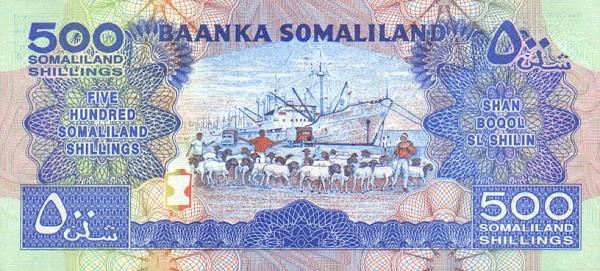 SomalilandP13-500ShillingsEquals500Shilin-1996(od1994)-donatedowl_b