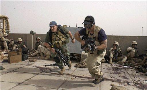 Contratistas de Blackwater en los combates de Najaf del 4 abril de 2004.