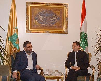 Meyssan recibido por Hezbolá en el Líbano