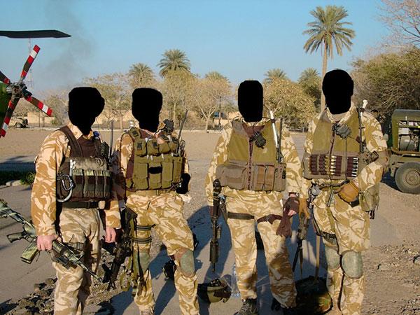 Miembros del SAS británico en Iraq