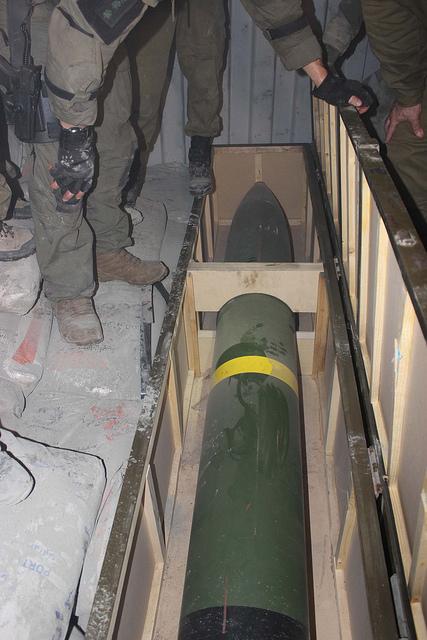 """Cohete M302 encontrado por la armada israelí en el buque """"KLOS-C"""""""