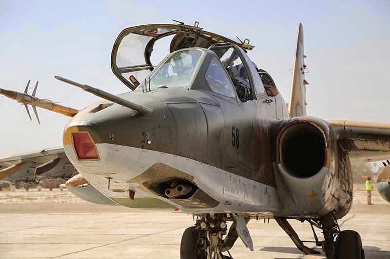 Su-25UBKM iraní tras su llegada a una base iraquí.