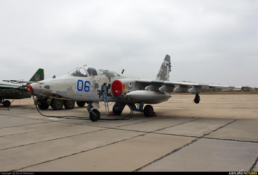 Su-25 de la fuerza aérea ucraniana