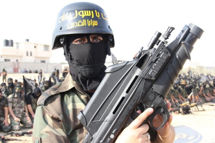 Fusil FN F200 en manos del Movimiento de la Yihad Islámica en Gaza.