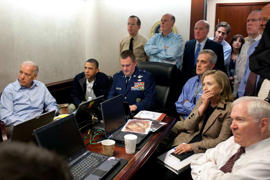 Hillary Clinton, Joe Biden, Barack Obama, Robert Gates