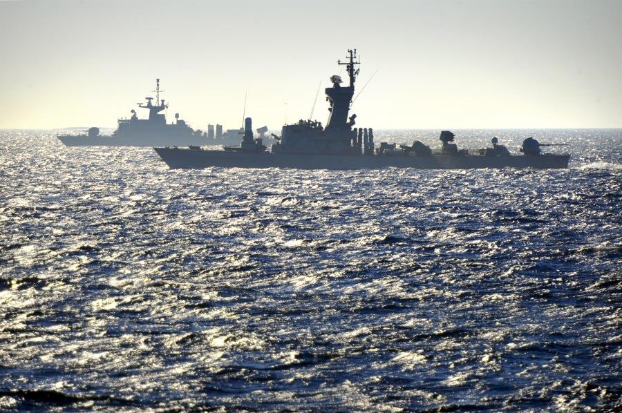 Buques de las armadas griegas e israelíes en un ejercicio bilateral en 2012