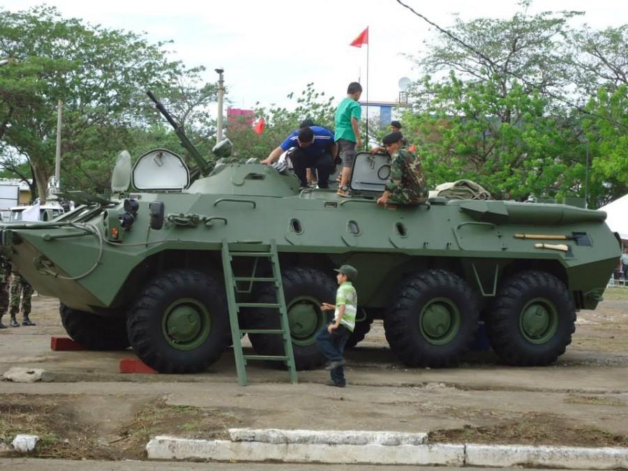 BTR-70M donado por Rusia a Nicaragua