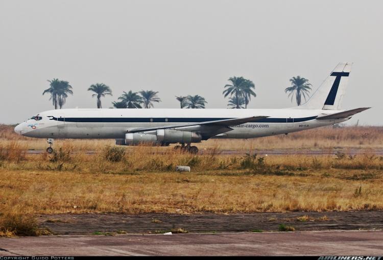 DC-8 de Trans Air Cargo, otra empresa implicada en el esfuerzo logístico de la Segunda Guerra del Congo