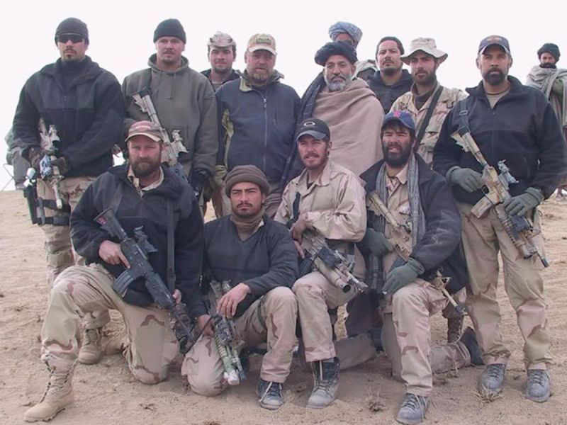 ODA 574 with Hamid Karzai. U.S. Army photo