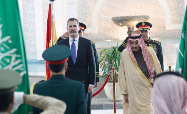 Los reyes de España y Arabia Saudita. Foto: CasaReal.es
