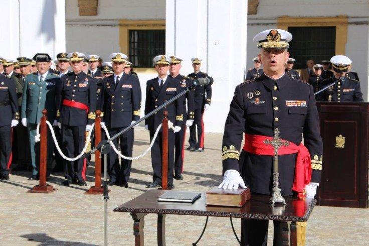 El general Roldán Tudela jurando el cargo en 2018. Foto: Armada Española.